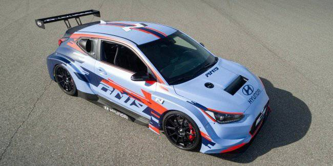 Racing hatchback Hyundai received a 390-horsepower engine