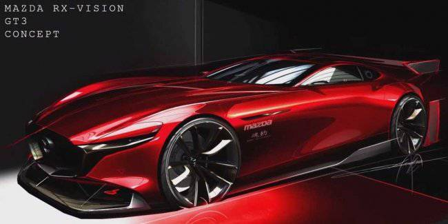 Mazda published the first image of the supercar named RX-Vision GT3