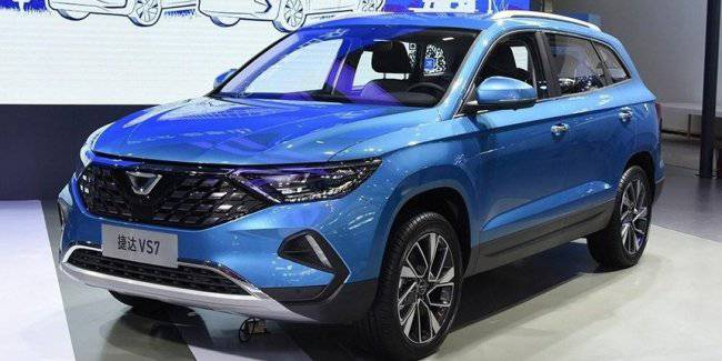 In China, the presentation of serial crossover Jetta VS7