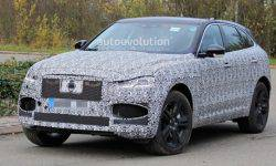 The first photos of the updated crossover Jaguar F-Pace