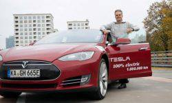 The driver from Germany has driven over 1 million miles on Tesla Model S in 5 years