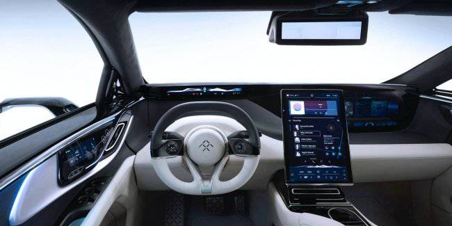 "Electric FF 91 showed ""ultra-luxury"" interior"