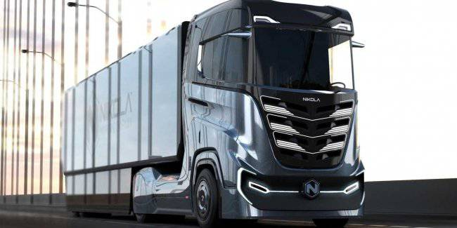 Iveco presented the truck on hydrogen fuel cells