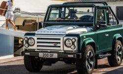 Presents emerald Land Rover Defender from England