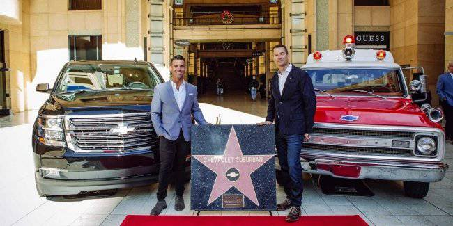 This has not been the Chevrolet Suburban came on the Hollywood walk of fame