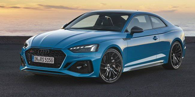 "Audi has updated the ""charged"" coupe and liftback RS5"