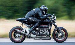 ZEF Eisenberg presented a motorcycle with a V8 engine