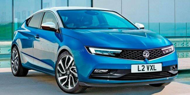 Kupeobrazny new Opel Astra was shown at the first photo