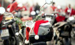 Spain was a parade of Santa clauses on motorcycles