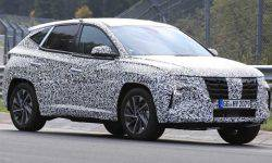 A prototype of the updated crossover Hyundai Tucson has been spotted on tests