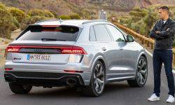Audi RS Q8. Jump through the head