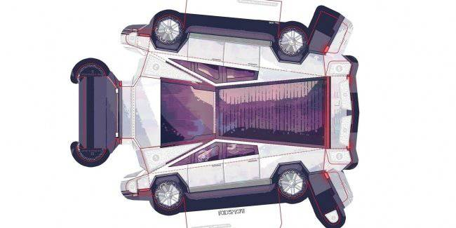 """Make your pickup truck yourself!"": a copy of the Tesla Cybertruck you can make out of paper"