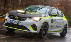 Opel has started testing its electric rally Corsa-e
