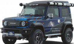 Special model Suzuki Jimny showed up for photos before the premiere