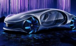 The show car Mercedes-Benz Vision AVTR trusted organic battery