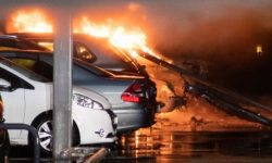 The fire in the car Park in Norway destroyed hundreds of vehicles