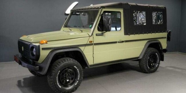 Dozens of army SUVs Mercedes G-Class put up for sale