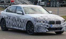 Electric version of the BMW 3-Series spotted on the tests