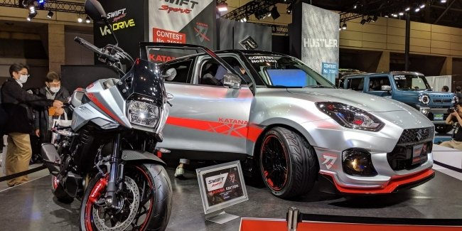 At the tuning show in Tokyo debuted a special version of the Suzuki Swift Sport Katana