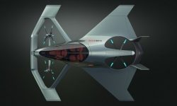The Porsche company introduced the concept of electric flying car