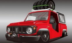 Suzuki Jimny turned into a radically low pickup