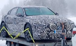 Jaguar has started to test a new generation XJ