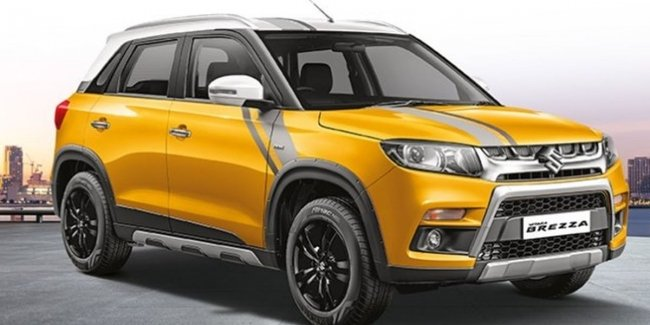 Suzuki is preparing a restyled version of the crossover Vitara Brezza