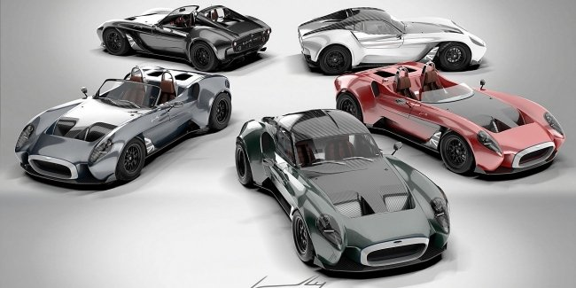 Sports car Design-Automotive 1 from Jannarelly appeared in multi-colored special model