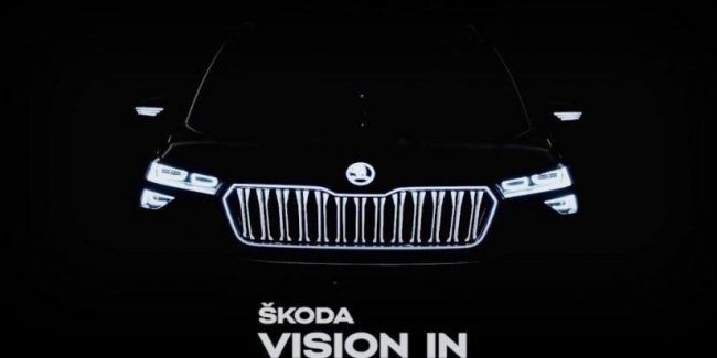 """Shows the new Skoda with the """"crystal"""" in the cabin"""