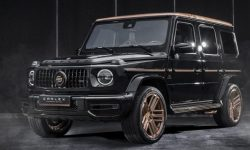 The poles showed the Mercedes-AMG G 63 with floors and roof made of copper