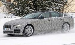 The updated Jaguar XF spotted during tests