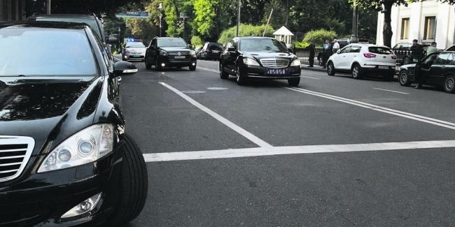In Kiev took the motorcade Erdogan of 19 cars