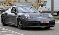 Porsche testing a new version of a sports coupe 911 Turbo