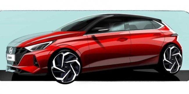 Hyundai has published a teaser of the updated hatchback i20