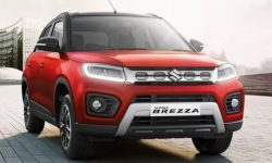 A facelifted version of the Suzuki Vitara Brezza has an updated design