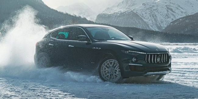 Maserati held a premiere of a new sparsely Levante Royale tournament snow Polo Snow Polo World Cup in St. Moritz