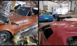 The explosion damaged 17 classic Chevrolet Corvette