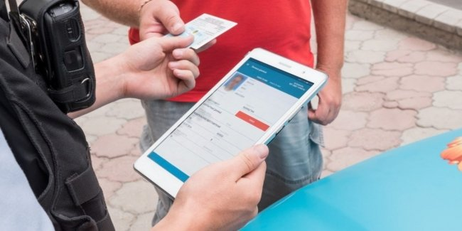 "The mobile app ""Da"" will reflect the withdrawal of the driving license"