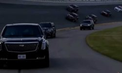 The presidential limo took part in the extreme race