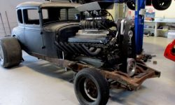 The new Zealander has built a hot-rod Ford Model A with a 27-litre V12 from the tank