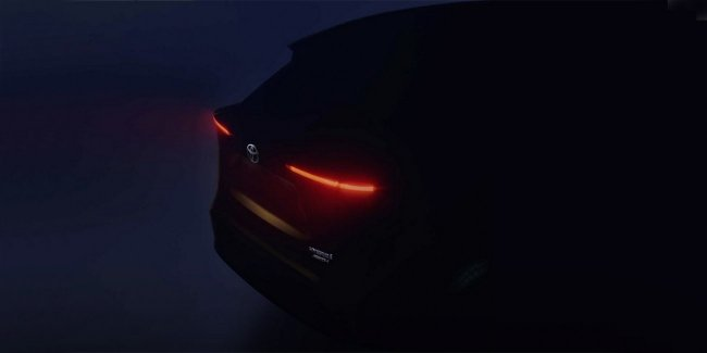 Toyota showed a teaser of a cheap crossover with all-wheel drive