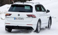 The tests seen a prototype high-performance crossover VW Tiguan R