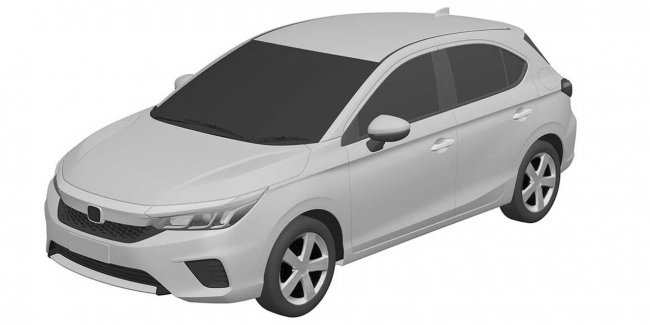 In the Network appeared the patent on a new Honda hatchback