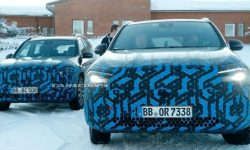 Seen on tests of new electro-crossovers Mercedes EQA and EQB