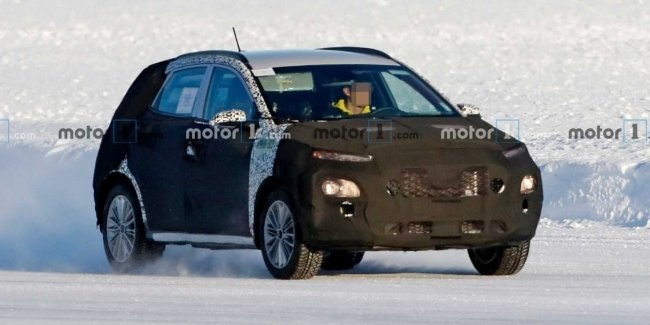 Updated Hyundai Kona for the first time caught photospin