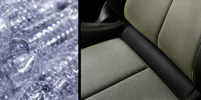 The interior of the new Audi A3 will trim the plastic bottles