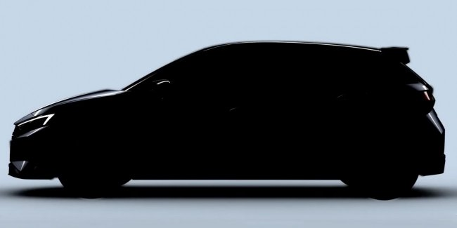 Hyundai revealed the first image of the hot hatch