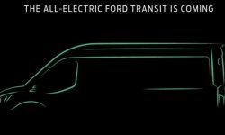Ford shared a teaser of electric Transit