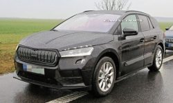 New crossover Skoda photographed with the serial body