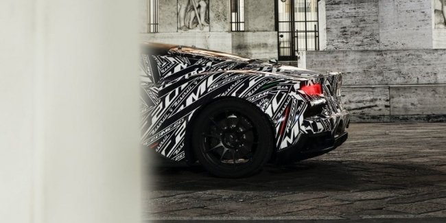New supercar Maserati showed in the serial body